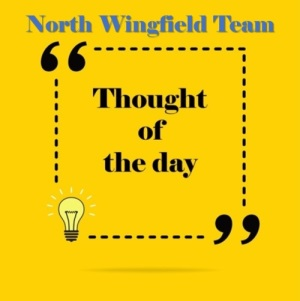 North Wingfield Team's Thought of the day